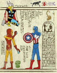 Hero-glyphics: Avenge. Artwork by JoshLN