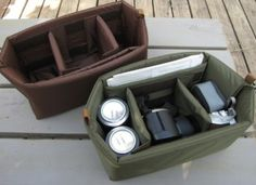 camera bag insert thingie (this way you can use your own stylish bags as a camera bag) by patrica