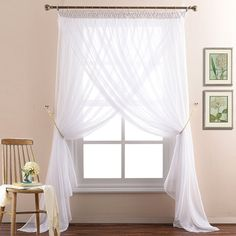 a way to put the white curtains of the kitchen?