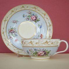 Bloor Derby Porcelain CUP Saucer Floral C1830
