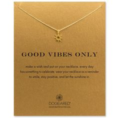 cool Bijoux - Tendance 2017/2018  : good vibes only radiant sun necklace from Dogeared. Get a 15% discount ♥...