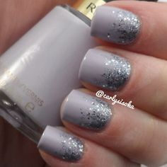 Reverse glitter gradient using Nails Inc- Maida Vale over Revlon- Charming - @carlysisoka