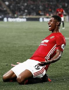 Marcus Rashford celebrates #MUFC #ManchesterUnited