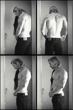 Chris Hemsworth if every hotte could walk around without his shirt on and just jeans. Omg.