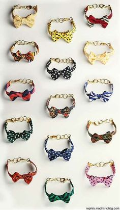 bowtie bracelets designed by Sarah Vickers for Kie