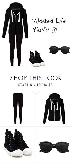 """""""Wasted Life (Outfit 3)"""" by thedanysimsbg ❤ liked on Polyvore featuring 7 For All Mankind and Moschino"""