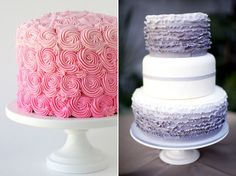 More Ombre Wedding Cakes