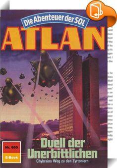 Atlan 666: Duell der Unerbittlichen (Heftroman)    :  Es geschah im April 3808. Die entscheidende Auseinandersetzung zwischen Atlan und seinen Helfern auf der einen und Anti-ES mit seinen zwangsrekrutierten Streitkräften auf der anderen Seite ging überraschend aus. Die von den Kosmokraten veranlasste Verbannung von Anti-ES wurde gegenstandslos, denn aus Wöbbeking und Anti-ES entstand ein neues Superwesen, das hinfort auf der Seite des Positiven agiert. Die neue Sachlage ist äußerst trö...