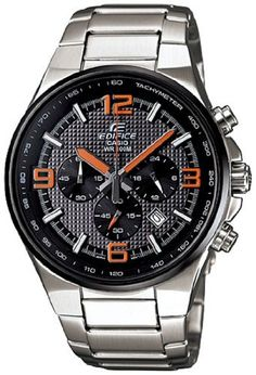 Casio Men's Edifice EFR515D-1A4V Silver Stainless-Steel Quartz Watch with Black Dial Casio. $144.95. 44mm Case Diameter. Edifice Collection. Mineral Crystal. Quartz Movement. 100 Meters / 330 Feet / 10 ATM Water Resistant