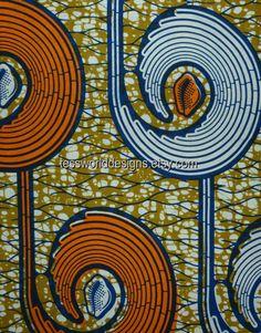 Julius Holland Wax  fabric olive green  by TessWorldDesigns, $8.00