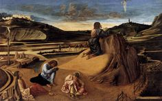 Giovanni Bellini - Christ on the Mount of Olives, 1465, color on wood