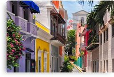 Colorful Streets of Old San Juan, Puerto Rico Canvas Print