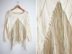 Aslında renginin önemi yok baklava desenli bir kazağınız var ise deri iplikler ile daha şık apachi style bir bir kazak elde edebilirsiniz.Nasıl mı? ...