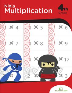 Take a crack at multiplication from a different angle! This book supplies a series of sheets looking at multiplying numbers with flashcards, lattice grids and times tables. Educational Websites, Educational Technology, Math Workbook, Homeschool Worksheets, Homeschooling, Ninja, Fourth Grade Math, Education Quotes For Teachers, Middle School Science