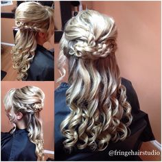 Wedding hair #updo #weddinghair #curls #longhair #twist #braid #blonde #modernsalon #btcpics #beautiful #behindthechair #cosmoprofbeauty #fringehairstudionanaimo #hair #hairlove #hairbytiannaagostini