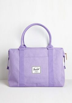 Places to Be Weekend Bag in Lilac. Stay on top of your action-packed schedule by toting all of your daily necessities in this lilac duffel by Herschel Supply Co. #lavender #modcloth