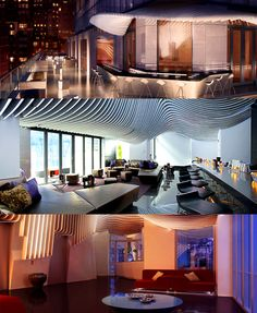 Living Room Bar And Terrace At The W Downtown 123 Washington St New York NY