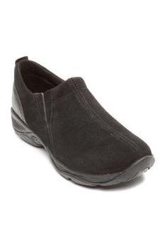 Easy Spirit Black Eveline Slip-On Walking Shoe - Available in Extended Sizes