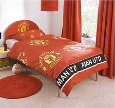Pokój dla fana Manchesteru United . http://domomator.pl/pokoj-dla-fana-manchesteru-united/
