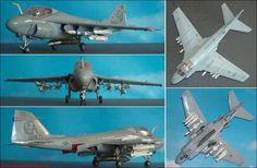"""Grumman A-6E Tram """"Intruder"""" (Fujimi 27013), mit Hasegawa-Waffensatz zugerüstet (Harpoon, Laserbomben) 1:72"""
