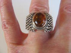 SALE Vintage sterling silver amber Egyptian by BonniesGreatFinds