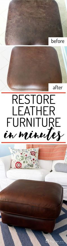 WOW! I had no idea how to restore leather furniture, but this makes it look so easy. I can't wait to try it on my couch!
