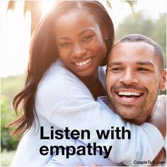 """When ur spouse is upset, give the gift of Listening w/ Empathy: """"That's frustrating for you."""" """"You're angry that..."""" No advice, no questions."""
