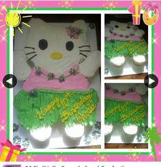 Hello kitty cake hula skirt luau