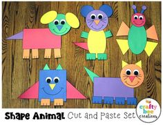 Shape Animal Crafts Bundle by Crafty Bee Creations Animal Crafts For Kids, Toddler Crafts, Art For Kids, Fun Diy Crafts, Creative Crafts, Arts And Crafts, Decor Crafts, Quick Crafts, Kids Crafts