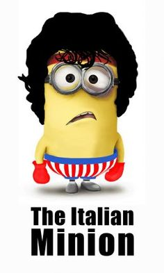 Rocky Minion - minion humor funny - Despicable Me movie Minion Rock, My Minion, Minion Humor, Minion Art, Minion Stuff, Cute Minions, Minions Despicable Me, Minions 2014, Evil Minions