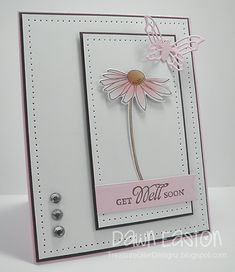Get Well Soon by TreasureOiler - Cards and Paper Crafts at Splitcoaststampers Gute Besserung mit TreasureOiler - Karten und Papiermodelle . Butterfly Cards, Flower Cards, Card Making Inspiration, Making Ideas, Ideas Bautizo, Stamping Up Cards, Get Well Cards, Cute Cards, Cards Diy