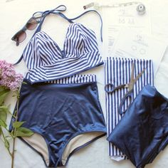 Sarah & Ava Retro Swimsuit Tutorial Part 2 (Ohhh Lulu.Sarah & Ava Retro Swimsuit Tutorial Part 1 shows you how to make the bra topNow you can sew your very own retro-inspired swimsuit, courtesy of Ohhh Lulu. with pattern links and everything! Lingerie Couture, Sewing Lingerie, Diy Couture, Diy Clothing, Sewing Clothes, Clothing Patterns, Diy Vetement, Swimsuit Pattern, Swimsuit Fabric