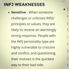 I don't  see sensitivity as a weakness though #infj