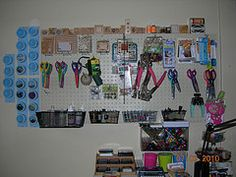 Pegboard stores a lot of the tools I don't need right at hand, it's on the wall to the left of my desk.
