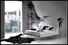 b&w badroom