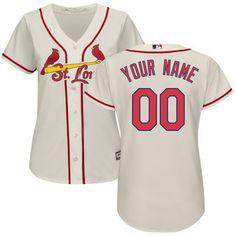 Majestic St. Louis Cardinals Women's Cream Home Cool Base Custom Jersey #cardinals #mlb #baseball
