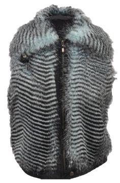 BareBac Women's Faux Fur Vest XL Blue Faux Fur.  #BareBac #Apparel