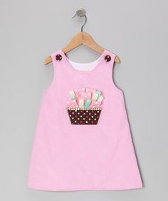 Pink Gingham Ribbon Cupcake A-Line Dress - Toddler & Girls