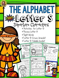 The Alphabet 'S' booklet features interactive activities for the letter 'S'. Students get to compile all activities in a booklet to take home. In addition, they craft a 'Letter 'S' Champ' crown and bracelet and put together a mini flipbook.