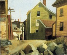 Italian Quarter, Gloucester by Edward Hopper' 1912, oil, 24 3/16 x 28 inches, Whitney Museum of American Art, NY