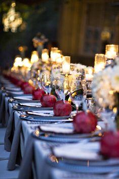 Wedding colors: top 7 marsala decorations - save on crafts Marsala, Wedding Themes, Wedding Colors, Wedding Decorations, Wedding Centerpieces, Pomegranate Wedding, Wedding Table, Wedding Day, Ruby Wedding