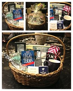 Graduation Gift Basket / Starting Law School for the future Lawyer to-be Gift Basket