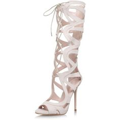 TOPSHOP **High Heel Strappy Knee High Boots by Carvela