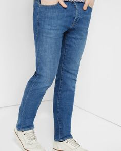Straight fit jeans - Light Wash | Jeans & Pants | Ted Baker