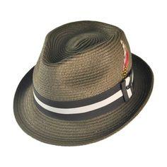 5c92e2e0200 Jaxon Ridley C-Crown Fedora Hat (Olive Green)  29.95 Straw Fedora