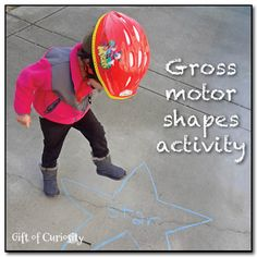 Gross motor shapes activity from Gift of Curiosity