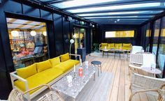 Folks Hotel Konepaja - roof terrace 5 Star Hotels, Terrace, Conference Room, Table, Furniture, Home Decor, Balcony, Decoration Home, Patio