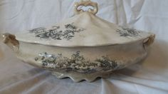 Vintage Covered Casserole Dish by 27WestandCo on Etsy, $18.00