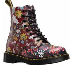 Dr. Martens Pascal 8-Eye Boot - Multi Floral Mix Backhand with FREE Shipping & Exchanges. The modern classic Pascal from Dr. Martens has the original Dr. Martens air-cushioned sole,
