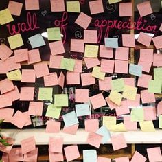 Love this wall of appreciation at It's great to read everyone's kind words. Wall Of Kindness, Manchester Art, 42nd Street, Kind Words, Appreciation, Love, Reading, Instagram, Amor